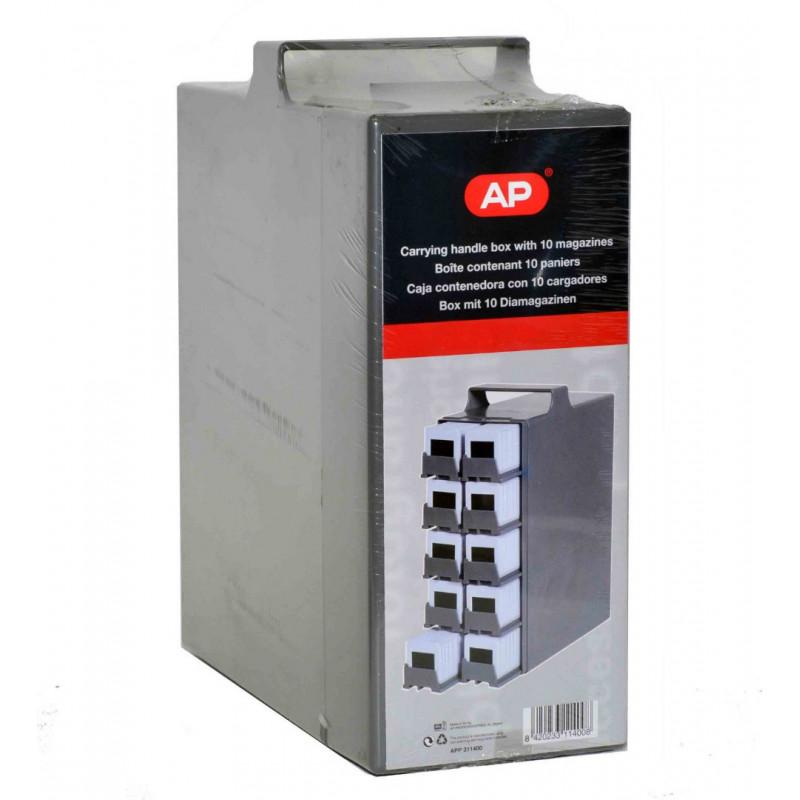 AP Slide Carry case x 10 magazines