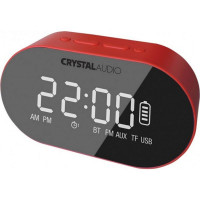 Crystal Audio BTC1-R BT Speaker Alarm Clock - Red