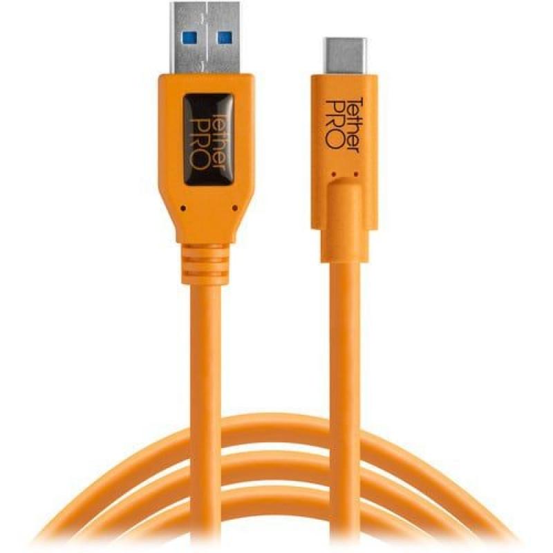 Tether Tools USB 3.0 to USB-C 4,60m orange - CUC3215-ORG